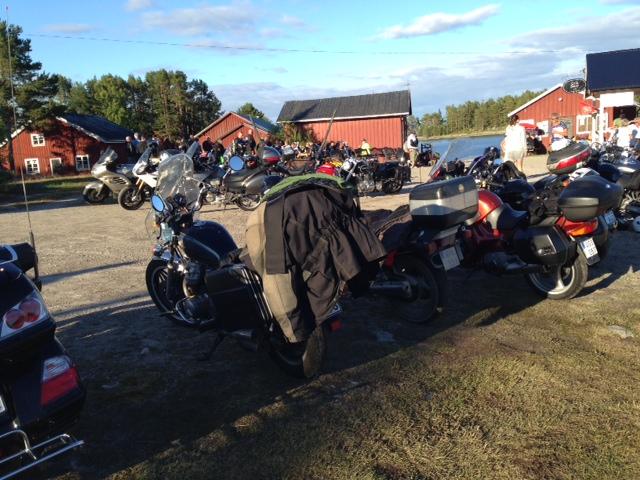 Motorcyklarna fyllde skäret i onsdags.
