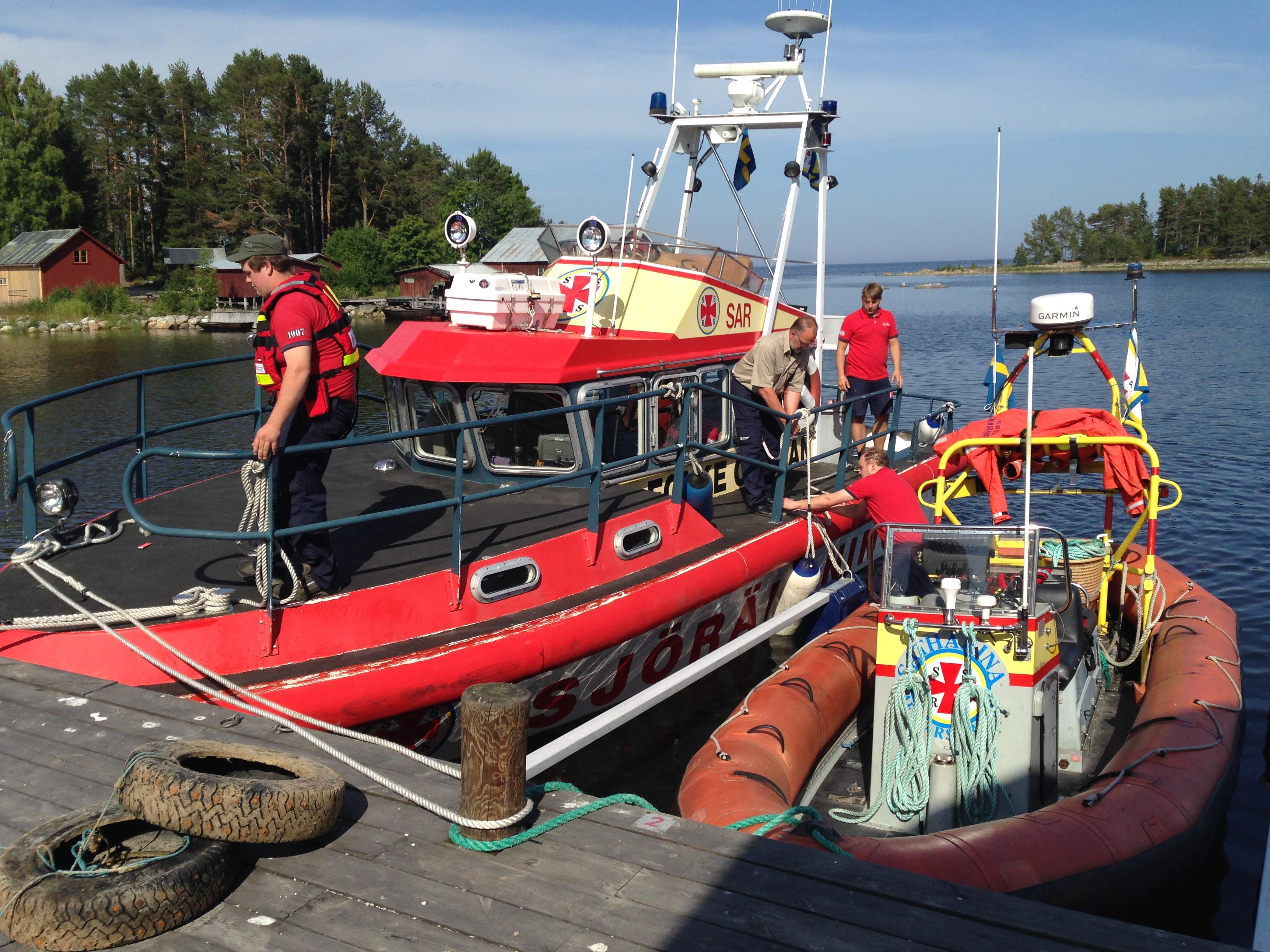 Sjöräddningen besöker Norrfjärden.