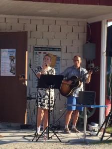 Linnea Jonsson och Lars Ljung på Café Skäret