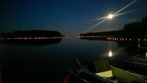 Lyskväll i Norrfjärden. Foto: Åsa Bergman