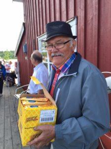 Åke Bertils ansvarade som alltid med bravur årets fisketävling.